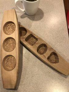 Wooden moon cake molds